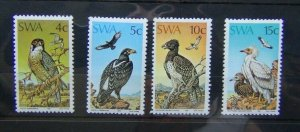 South West Africa 1975 Protected Birds of Prey set MNH