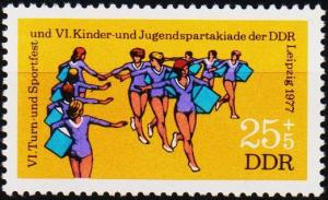 Germany(DDR). 1977 25pf +5pf S.G.E1959 Unmounted Mint