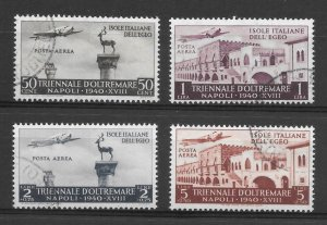 Italy, Aegean Islands, C44-47, Triennial Overseas Expo, U, NH, Catalog = $42.50
