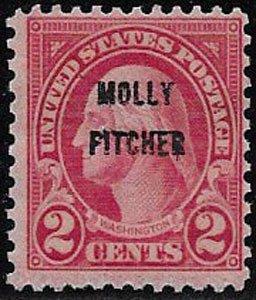 United States, SC 646, Molly Pitcher, no gum