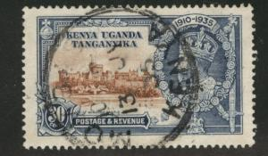 Kenya Uganda and Tanganyika KUT 1935 Silver Jubilee used 30c