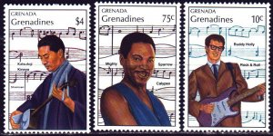 Grenada. 1989. 1216-19 from the series. Buddy Holly, Mighta Sparrow, actor, m...
