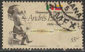 MEXICO 2019, ANDRES ELOY BLANCO, POET. USED. VF. (935)