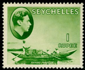 SEYCHELLES SG146, 1r Yellow Green, VLH MINT. Cat £150.