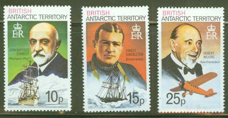 British Antarctic Territory (BAT) Scott 55-57 MNH**