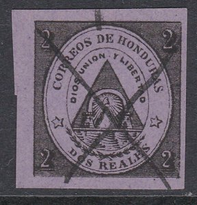 HONDURAS  An old forgery of a classic stamp.................................D489