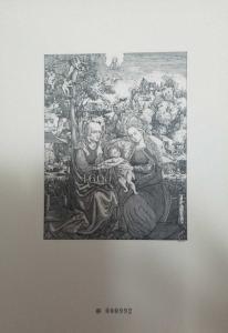 O) 2011 SLOVAKIA, BLACK PROOF, SANTA ANA  MARIA AND JESUS -GOTHIC ART PAINTING F
