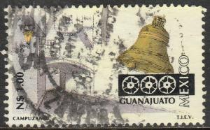 MEXICO 1783, N$1.00 Tourism Guanajuato street, bell. USED. F-VF. (1373)