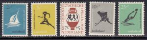 Netherlands # B296-300, Olympic Games, LH, 1/3 Cat.