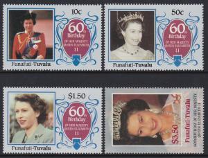 Tuvalu Funafuti 1986 QEII 52-55 MNH
