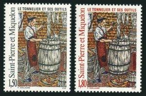 St Pierre & Miquelon 613-614,MNH.Michel 690-691. Cooper,tools,1995.