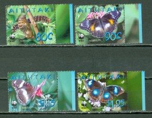 AITUTAKI 2005 BIRDS #539-42...SET MNH...$6.25