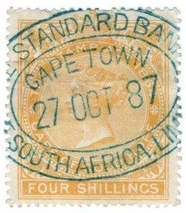 (I.B) Cape of Good Hope Revenue : Stamp Duty 4/- (1878)