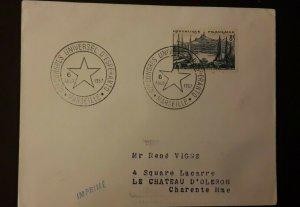 1957 Marseille France World Congress Of Esperanto Illustrated Cover