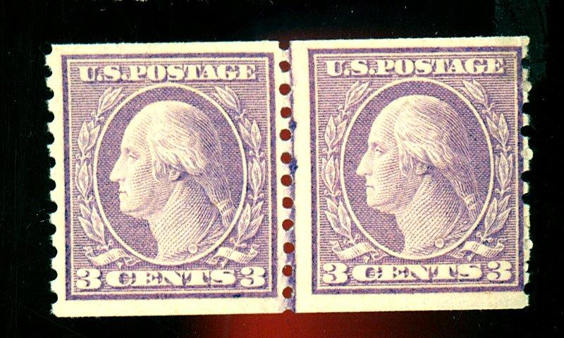 493 MINT Line Pair F-VF OG NH Cat$230