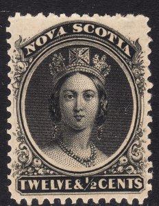 1860-63 Canada Nova Scotia Queen Victoria QV 12½¢ MMH Sc# 13 CV $42.50 Stk #2