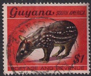 Guyana 1968 QE2 $1 Paca Labba used SG 460 ( F1195 )