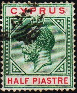 Cyprus. 1912 1/2pi S.G.75 Fine Used