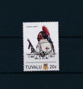 [80901] Tuvalu 2011 Native Americans Indians Illinois Chief MNH