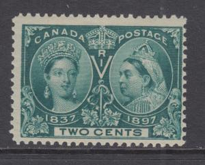 Canada Sc 52 MNH. 1897 2c green Queen Victoria Diamond Jubilee, usual centering