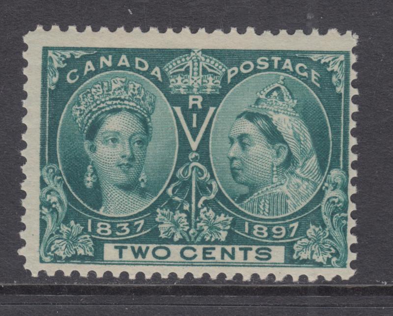 Canada Sc 52 MNH. 1897 2c green Queen Victoria Diamond Jubilee, usual centering