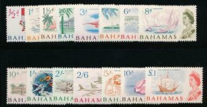 BAHAMAS 204-218 MINT NH 1965 DEFINITIVE