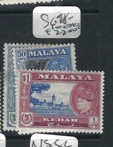 MALAYA KEDAH  (P2206B) SULTAN  25C-$1.00  SG 98-100   MOG