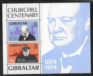 Gibraltar #317a  Churchill Centenary   S/S  (MNH) CV$5.00