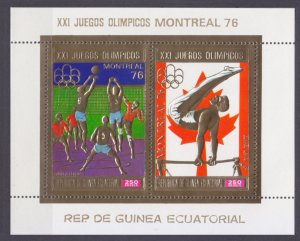 1976 Equatorial Guinea 875-876/B227gold 1976 Olympic Games in Montreal 17,00 €