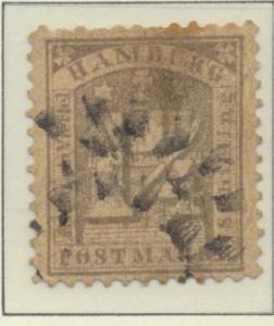 Hamburg (German State) Stamp Scott #22, Used - Free U.S. Shipping, Free World...