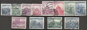 Stamp Germany Bohemia Czechoslovakia Mi 025-36 Sc 27-38 1940 WWII 3rd Reich Used