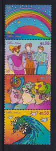 United Nations Vienna  #318-321   MNH  2002  sustainable development strip of 4