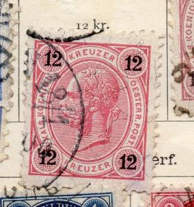 Austria 1890 Early Issue Fine Used 12kr. 238689
