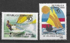 1996    DOMINICAN REPUBLIC  -  SG.  1967 / 1968  -  SUNFISH DINGHY   -  MNH