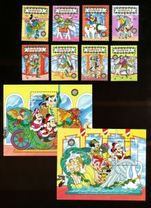 DOMINICA - Scott 1271-1280  VFMNH - DISNEY - Carousel Menagerie - 1990