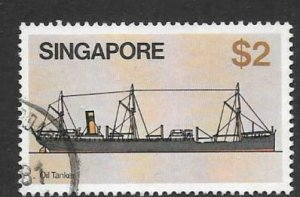 SINGAPORE SG374 1980 $2 SHIPS FINE USED