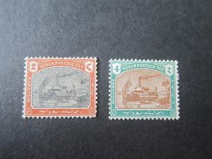 Sudan 1901 Sc J5,J6 MH