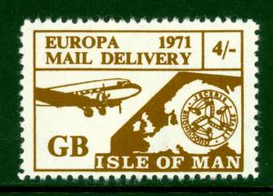 GREAT BRITAIN 1971 STRIKE POST LABELS 4s EUROPA ISLE OF MAN MNH