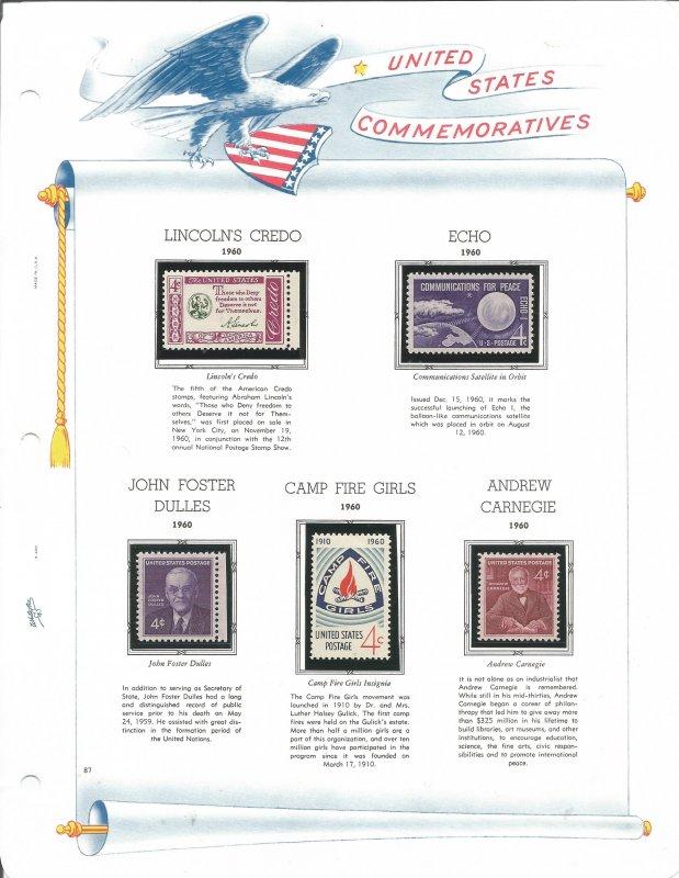 USA Postal Stamps MNH 1960 & 1961 (24 stamps)