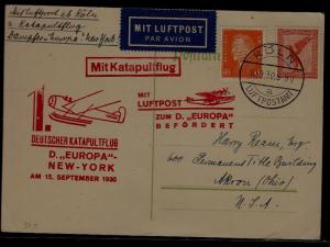 Germany Catapult card 15.9.30 signed Joffe,light creases