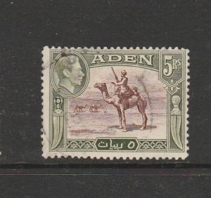 Aden 1939/48 5Rs Used SG 26