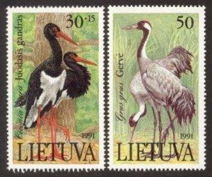 Lithuania MNH 403-4 Birds 1991