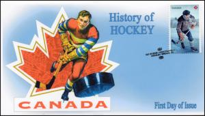 CA17-049, 2017, History of Hockey, Vintage, Day of Issue, FDC
