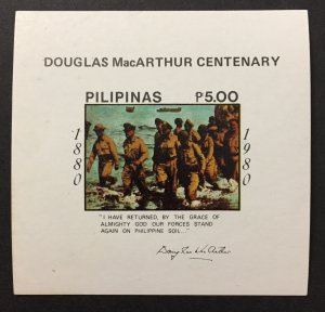Philippines 1980 #1452 S/S, General MacArthur, MNH.