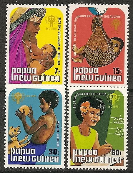Papua New Guinea MNH 508-11 International Year Of The Child 1979