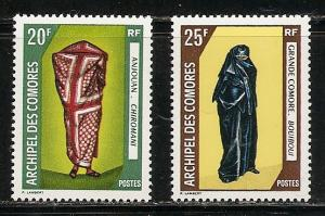 Comoro Islands 85-6 1970 Costumes set MNH
