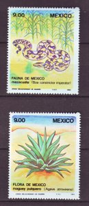 J22197 Jlstamps 1983 mexico set mnh #1326-7 wildlife