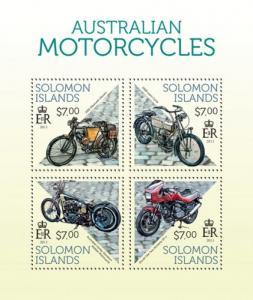 SOLOMON ISLANDS 2013 SHEET MOTORCYCLES slm13713a