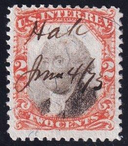 US STAMP REVENUE #R135 2c 1871-72 3rd Issue  Revenue Stamp Used