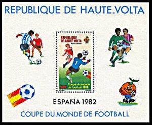 Upper Volta C272, MNH, Spain 1982 World Cup Football Championship souvenir sheet